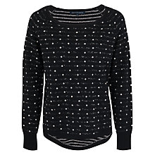 Buy French Connection Wendy Spot Jumper, Balsamic/Brule Online at johnlewis.com