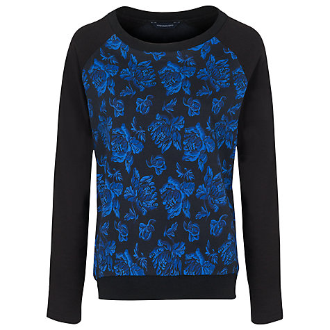 Buy French Connection Blousy Jumper, Electric Blue/Multi Online at johnlewis.com