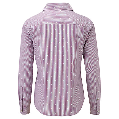 Buy Viyella Stripe Shirt, Violet Online at johnlewis.com