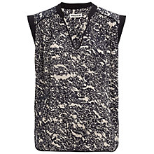 Buy Whistles Granite Print Top, Navy Online at johnlewis.com
