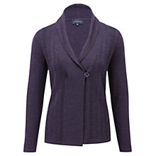 Buy Viyella Shawl Neck Cable Cardigan, Blackberry Online at johnlewis.com