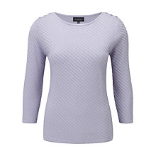 Buy Viyella Diagonal Cable Knit Jumper, Lavender Online at johnlewis.com