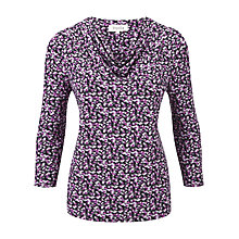 Buy Viyella Confetti Petal Print Jersey Top, Blackberry Online at johnlewis.com