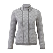 Buy Viyella Petite Zig Zag Cardigan, Grey/Ivory Online at johnlewis.com