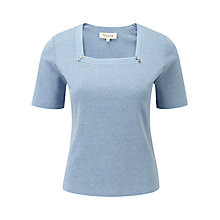 Buy Viyella Petite Square Top, Porcelain Online at johnlewis.com