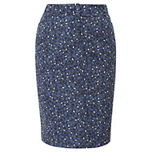 Buy Viyella Petite Printed Pencil Skirt, French Navy Online at johnlewis.com