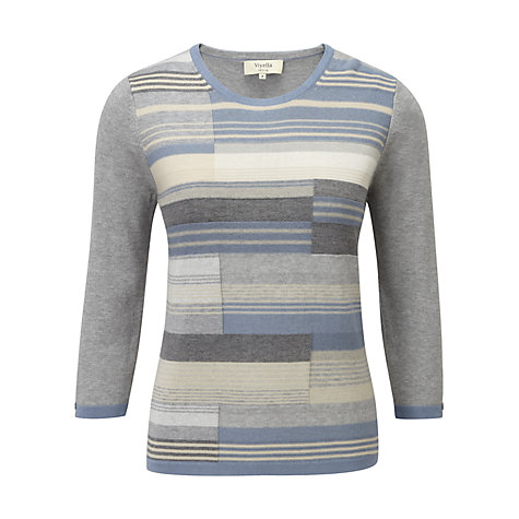 Buy Viyella Colour Block Jumper, Silver Grey Online at johnlewis.com