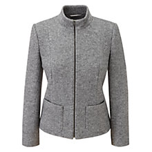 Buy Viyella Boiled Wool Jacket, Melange Grey Online at johnlewis.com