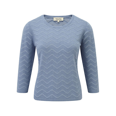 Buy Viyella Petite Zig Zag Jumper, Porcelain Online at johnlewis.com