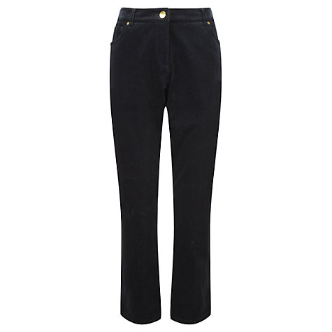Buy Viyella Petite Corduroy Trousers, French Navy Online at johnlewis.com