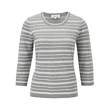 Buy Viyella Horizontal Jumper, Silver Grey Online at johnlewis.com