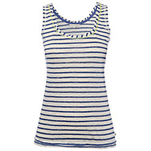 Buy White Stuff Coving Stripe Vest Top, Dark Cool Air Online at johnlewis.com