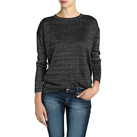 Buy Mango Metallic Jumper, Dark Grey Online at johnlewis.com