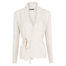 Buy Mango Bow Knit Cardigan, Light Beige Online at johnlewis.com