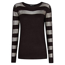 Buy Mango Sheer Detail Jumper, Black Online at johnlewis.com