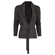 Buy Mango Bow Knit Cardigan, Dark Grey Online at johnlewis.com