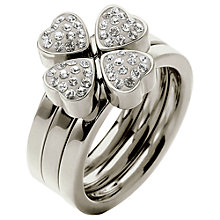 Buy Folli Follie Heart4Heart Triple Band Crystal Ring Online at johnlewis.com