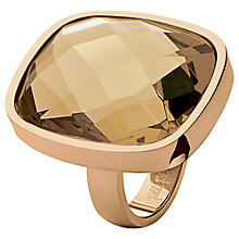 Buy Folli Follie Elements Cushion Cut Rose Gold Cocktail Ring, Champagne Online at johnlewis.com