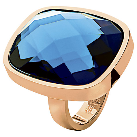 Buy Folli Follie Elements Cushion Cut Rose Gold Cocktail Ring Online at johnlewis.com