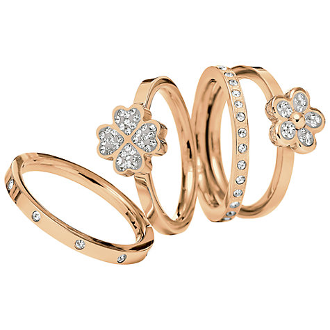 Buy Folli Follie Wonder and Heart4Heart Ring Gift Set, Rose Gold Online at johnlewis.com