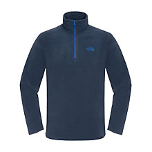 Buy The North Face Glacier 1/4 Zip Fleece Jumper, Navy Online at johnlewis.com