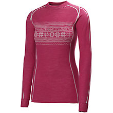 Buy Helly Hansen Warm Ice Long Sleeve Print Top, Claret Online at johnlewis.com