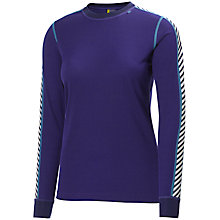Buy Helly Hansen Dry Stripe Crew Neck Top, Purple Online at johnlewis.com