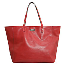 Buy Mango Stud Detail Shopper Bag, Dark Red Online at johnlewis.com