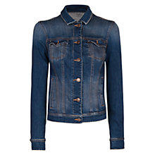 Buy Mango Dark Wash Denim Jacket, Navy Online at johnlewis.com