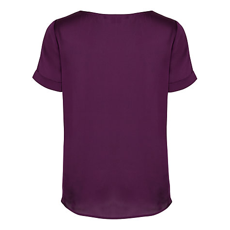 Buy French Connection Alda Sheen Top, Autumn Prune Online at johnlewis.com