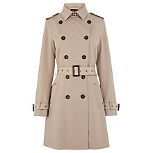 Buy Warehouse Eyelet Belted Mac, Beige Online at johnlewis.com