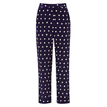Buy Hobbs Indigo Trousers, Indigo Multi Online at johnlewis.com