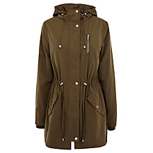 Buy Oasis Ruby Lightweight Parka, Khaki Online at johnlewis.com