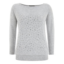 Buy Mint Velvet Crystal Knitted Jumper, Grey Online at johnlewis.com