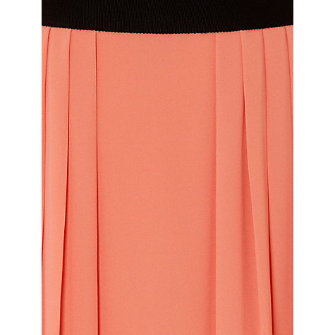 Buy Hobbs Thamer Pleated Skirt, Coral Online at johnlewis.com