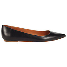 Buy Whistles Brigitte Ballet Pumps, Black Online at johnlewis.com