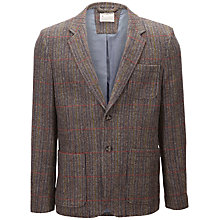Buy Selected Homme Tobias Check Tweed Jacket, Brown Online at johnlewis.com