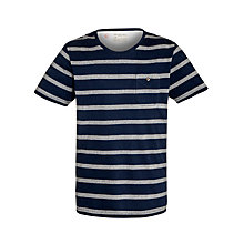Buy Selected Homme Broome Stripe T Shirt, Peacoat Online at johnlewis.com