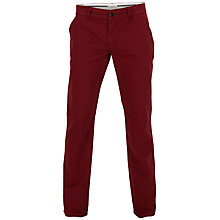 Buy Selected Homme Three Paris Chinos, Red Online at johnlewis.com