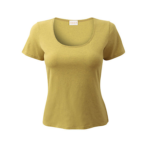 Buy East Melange Jersey Top, Sour Online at johnlewis.com