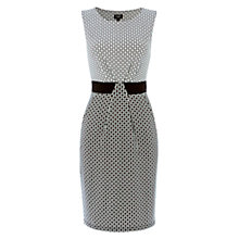 Buy Hobbs Diamond Geo Dress, Black/Ivory Online at johnlewis.com