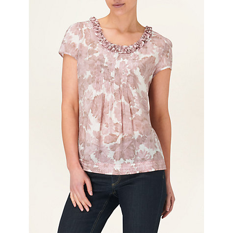 Buy Phase Eight Dalilah Floral Print Top, Dusty Pink Online at johnlewis.com