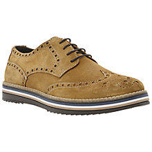 Buy Bertie Bumbled Suede Brogue Derby Shoes, Navy Online at johnlewis.com