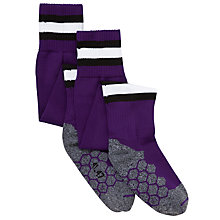 Buy Alderbrook Senior School Unisex Football Socks, Purple/Multi Online at johnlewis.com