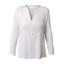 Buy East Pintuck Embroidered Kurta, White Online at johnlewis.com