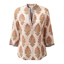 Buy East Anokhi Turrets Printed Kurta, Pink Online at johnlewis.com