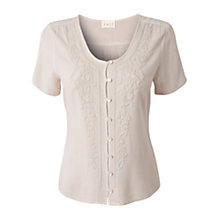 Buy East Embroidered Detail Top, Rice Online at johnlewis.com