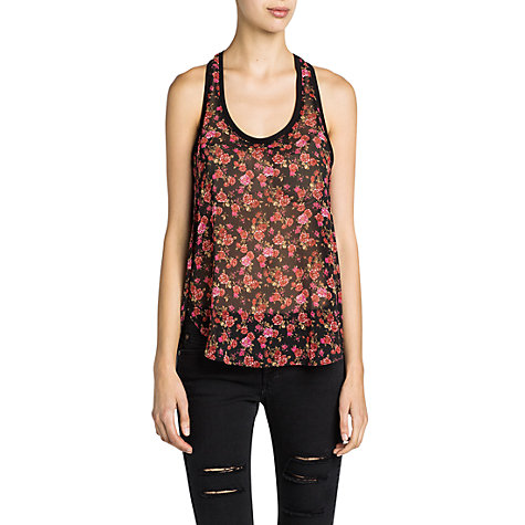Buy Mango Floral Print Chiffon Top Online at johnlewis.com