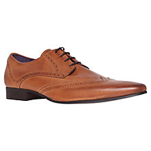 Buy KG by Kurt Geiger Jake Wingtip Leather Brogue Derby Shoes, Tan Online at johnlewis.com