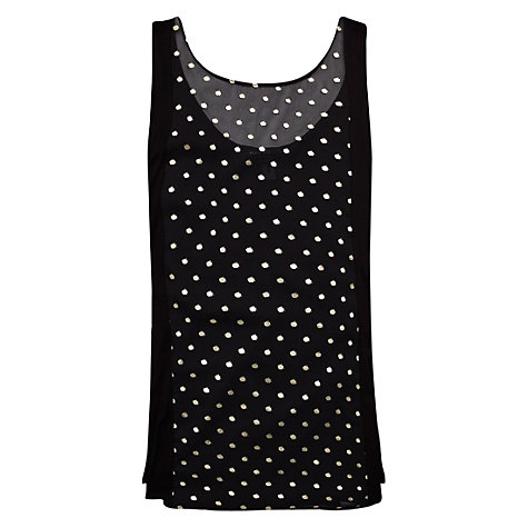 Buy Mango Metallic Polka-Dot T-Shirt, Black Online at johnlewis.com